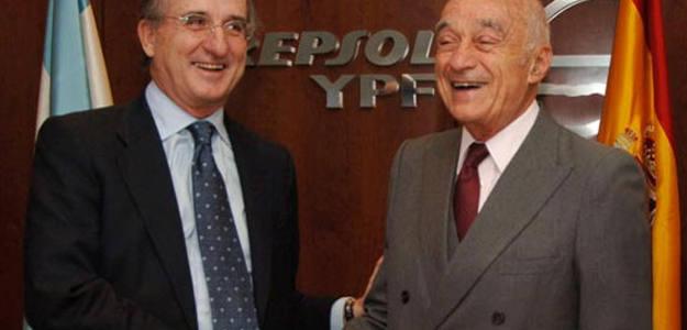 Brufau saluda a Enrique Eskenazi, patriarca de la familia de empresarios argentinos