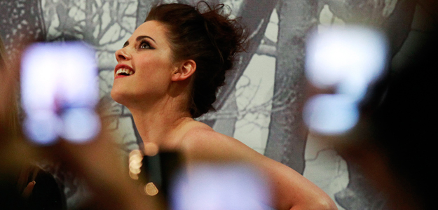 Fans take pictures of cast member Kristen Stewart at the Australian Premiere of &quot;Snow White and the Huntsman&quot; in Sydney