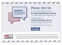La convocatoria de Facebook al evento de presentación de su nuevo servicio de correo