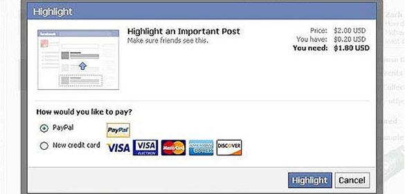Facebook está probando el sistema para cobrar por destacar las publicaciones en Nueva Zelanda