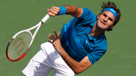 Federer pasa a semifinales en Indian Wells tras borrar de la pista a Del Potro