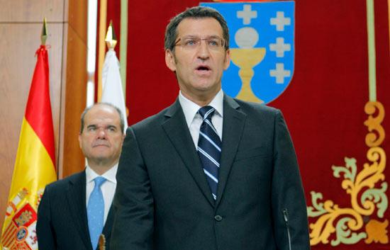 Feijóo promete como presidente de la Xunta de Galicia