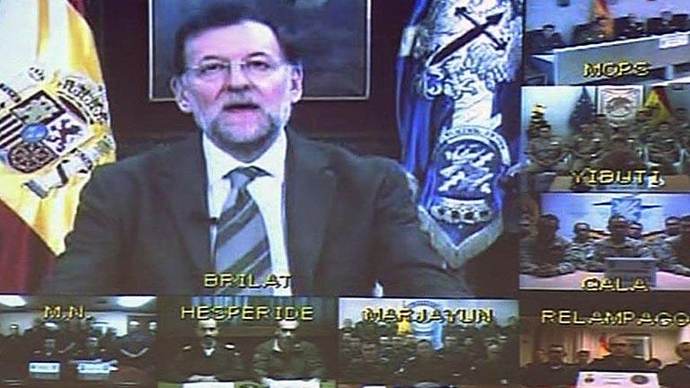 Saludo de Rajoy a las tropas españolas desplegadas en el exterior