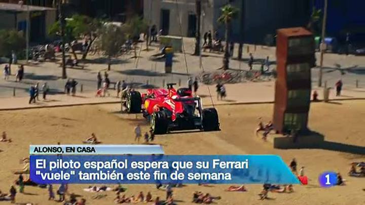 El Ferrari de Alonso llega &quot;volando&quot; a Montmel&oacute;