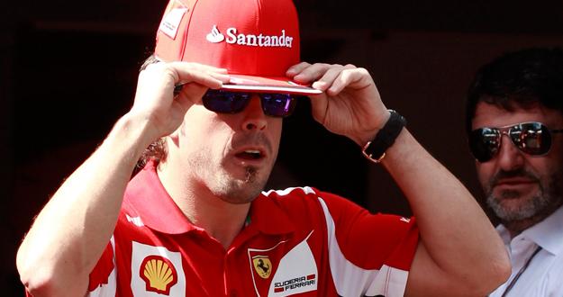 Imagen del piloto Fernando Alonso en el circuito australiano de Albert Park en Melbourne.
