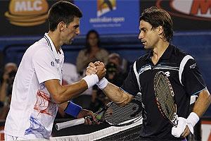 Ferrer no puede derribar a Djokovic
