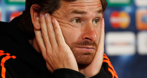 File photo of Chelsea's coach Andre Villas-Boas at a news conference at their training ground in Cobham