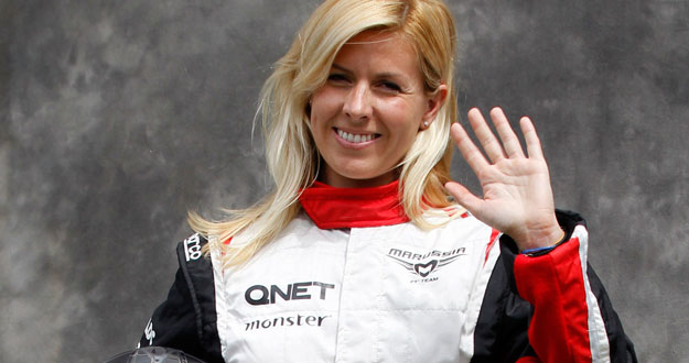 File photo of Marussia Formula One test driver Maria de Villota of Spain