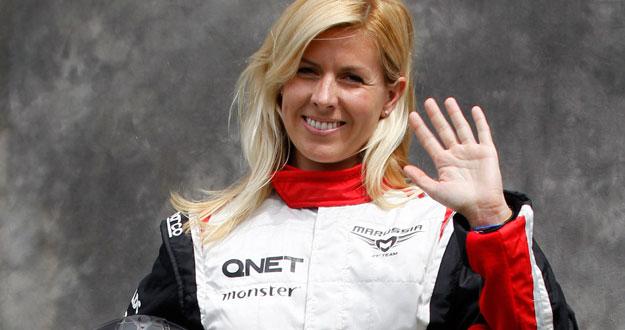 File photo of Marussia Formula One test driver Maria de Villota of Spain