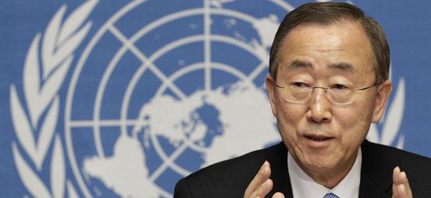 Foto de archivo del secretario general de la ONU, Ban Ki-moon.