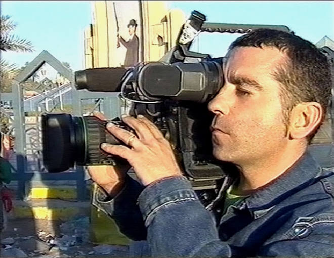 FILE PHOTO OF SPANISH CAMERAMAN COUSO KILLED IN BAGHDAD.