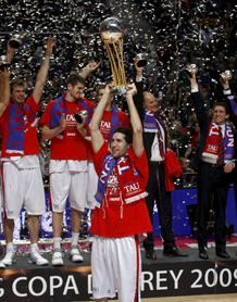 Alegría de todos los jugadores del Baskonia.