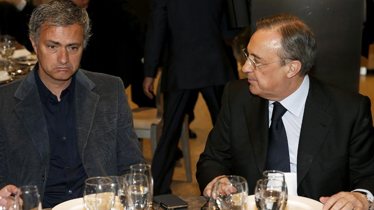 Florentino P&eacute;rez anuncia el adi&oacute;s de Mourinho