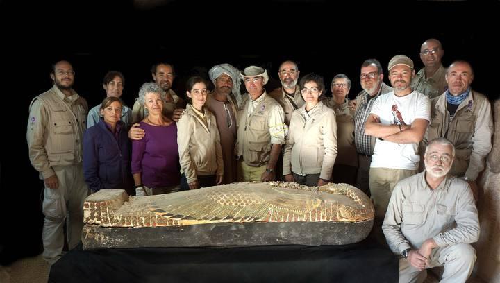 Foto del equipo de Proyecto Djehuty, que ha contado este año con 16 especialistas españoles y cuatro extranjeros.