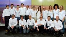 Foto de familia del 'equipo olímpico' de RTVE