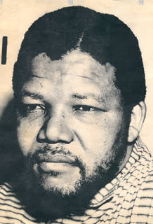Foto de Nelson Mandela correspondiente a su larga etapa en la clandestinidad