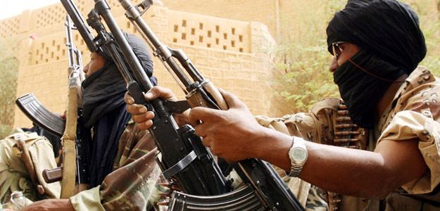 Fotografía de archivo de combatientes tuaregs en el noreste de Mali
