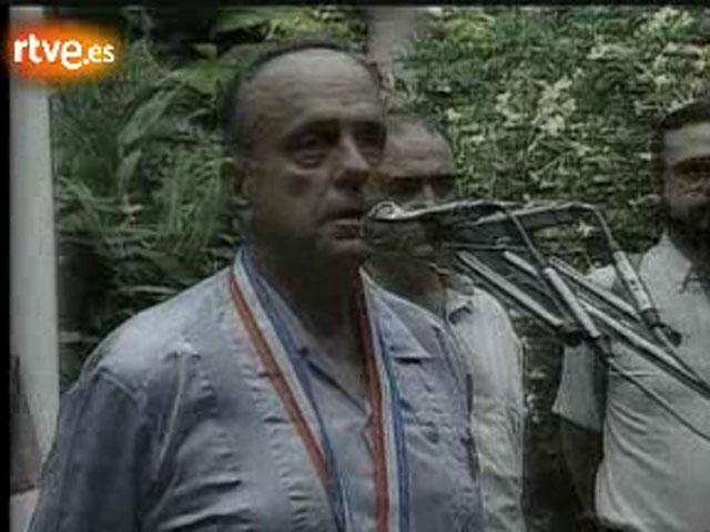 Visita oficial del presidente de la Xunta, Manuel Fraga, a Cuba