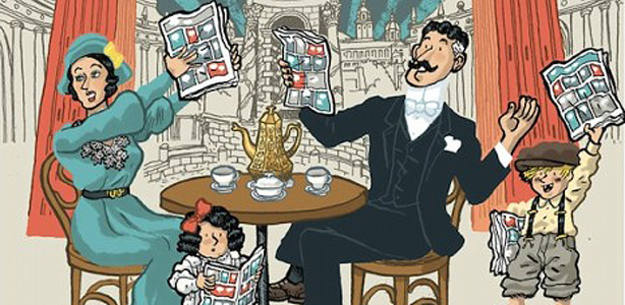 Fragmento del cartel de la 31 edición del salón del cómic de Barcelona a cargo del Premio nacional de Cómic 2012, Alfonso Zapico