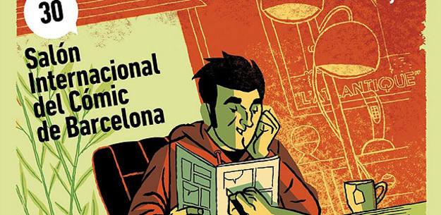 Fragmento del cartel del Salón del cómic de Barcelona 2012