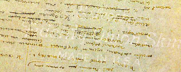 """Fragmento de las dos hojas en las que Sàint-Exupery escribió sobre """"el crucigramista"""""""