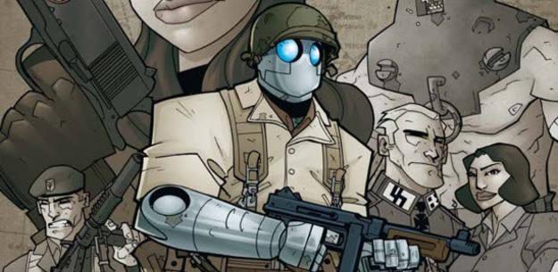 Fragmento de una ilustración de 'Atomic robo 01', de Brian Clevinger y Scott Wegener