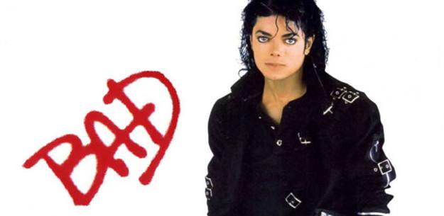 Fragmento de la portada de 'Bad', de Michael Jackson
