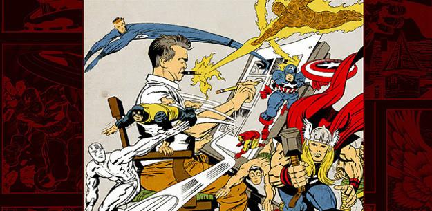 Fragmento de la portada de 'King Kirby. Jack Kirby y el mundo del cómic', de José Joaquín Rodríguez