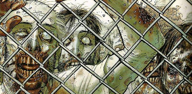 Fragmento de una portada de 'Los muertos vivientes', de Robert Kirkman, Charlie Adlard y Tony Moore