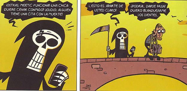 Fragmento de una tira de 'Rip 2: Ángeles y demonios', de Aitor Eraña