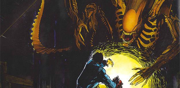 Fragmento de una viñeta de 'Alien: La historia ilustrada' , de Archie Goodwin y Walter Simonson