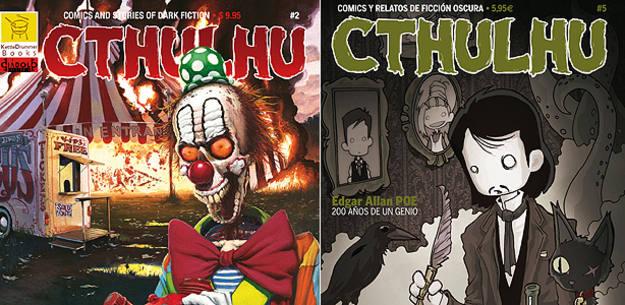 Fragmentos de portadas de las ediciones americana y española de 'Cthulhu'