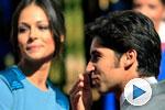 Fran y Cayetano a la entrada de la ceremonia