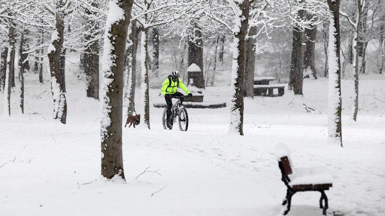 Frío y nieve en el tercer día de temporal en España