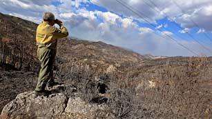 Ver vídeo  'El fuego en Cortes de Pallás está estabilizado y sin llamas'