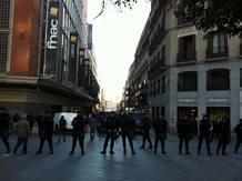 Fuerte dispositivo policial en la zona comercial del centro de Madrid