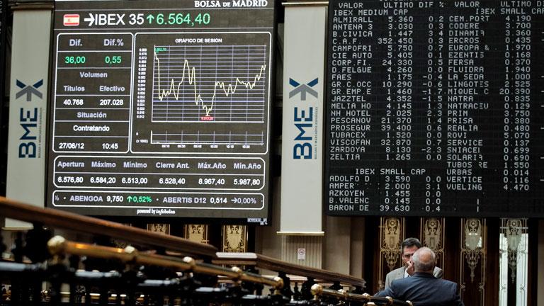 Fuertes ganancias en las Bolsas, tras la aprobación del rescate a la banca española por el Eurogrupo