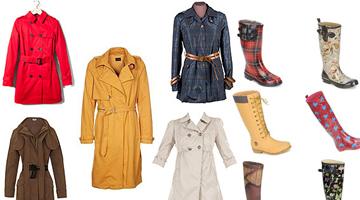 Gabardina y botas de agua, clásicos de moda este otoño