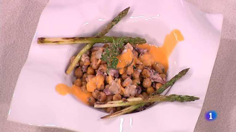 Cocina con Sergio - Garbanzos crujientes con vinagreta veraniega