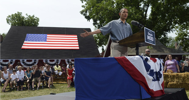 Obama pronuncia su primer discurso en Ohio.