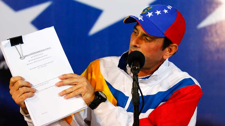 Henrique Capriles anuncia una gira para denunciar las irregularidades en las elecciones presidenciales de Venezuela