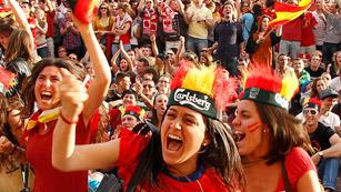 Ver vídeo  'Goleada de la afición de la Roja'