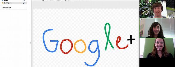 Quedadas en Google+ con con la opción de 'pizarra'