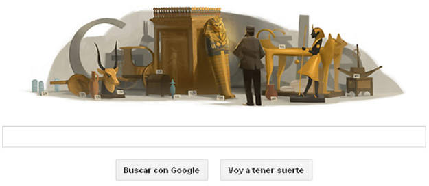 El 'doodle' de Google rinde homenaje al arqueólogo y egiptólogo Howard Carter