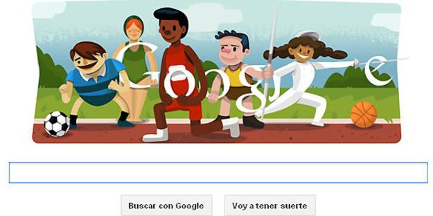 Google dedica su 'doodle' a los Juegos Olímpicos de Londres 2012