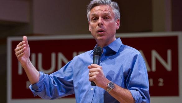 Huntsman, durante un acto de campaña en New Hampshire.
