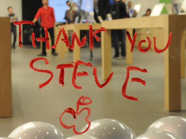 """""""Gracias, Steve"""", uno de los mensajes más repetidos"""