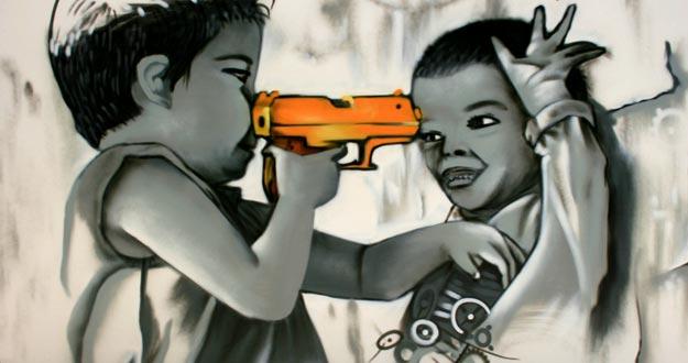 Ni os soldado la infamia que no cesa for Graffitis para ninos