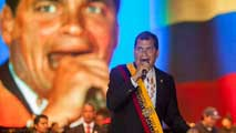 Ir al Video Gran respaldo popular a Rafael Correa