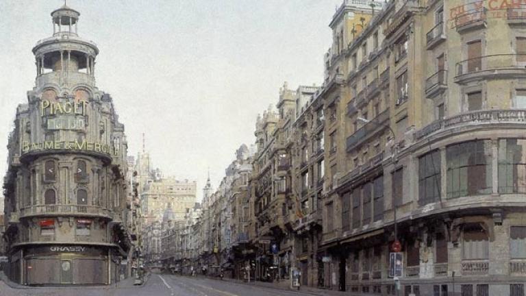 La mitad invisible - La Gran Vía, por Antonio López